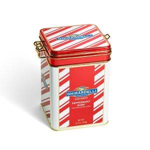Peppermint Bark Squares Keepsake Tin - Peppermint Bark Chocolate - Christmas Gift Ideas