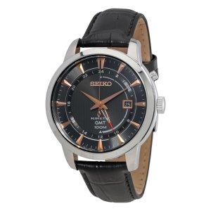 $98 平黑五价!低调黑金Seiko Core 系列 SUN063 男士人动能腕表