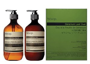 Aesop Geranium Leaf Body Cleaner and Balm Duet