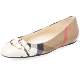 Bridle House Check Ballet Flat by Burberry