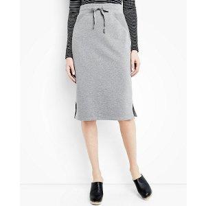Women's Straight Skirt In French Terry   Women Sale Dress
