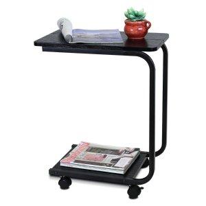 Furinno FNBJ-22032-1 B&W U-Shaped Side Table, Black
