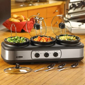 $29.99 Bella 3 x 2.5-Quart Triple Slow Cooker Black BLA14484