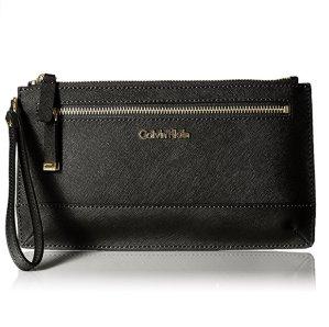 $43.74 Extra 30% Off Calvin Klein SAFFIANO Wristlet