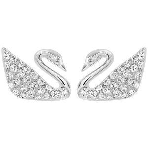 Swan Pierced Earrings - Jewelry - Swarovski Online Shop