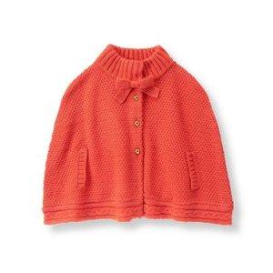 Pretty Pumpkin Textured Sweater Cape at JanieandJack
