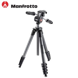 $69.88Manfrotto 5-Section Compact Advanced Aluminum Tripod with 3-Way Pan Head, Black