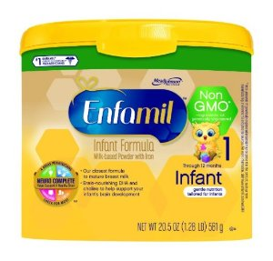 Enfamil Infant Non-GMO Baby Formula, 20.5 Oz. Tub (Pack of 4)
