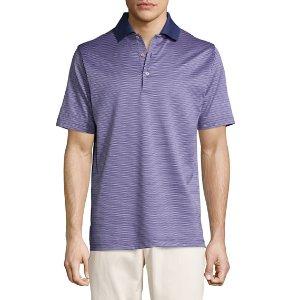 Peter Millar Ophelia Jacquard Cotton Lisle Polo Shirt