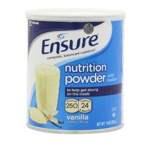 $8.52 Ensure Nutrition Drink Powder, Vanilla Flavor, 14 oz Can (397 g)
