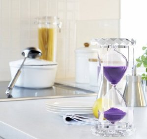 $15.99 Lightning deal! 30 Minutes Hourglass, SZAT Sand Timer Romantic Crystal Sandy Clock with Purple Sands