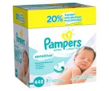 Pampers Sensitive Baby Wipes Refill Pack - 448 Count