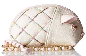 Betsey Johnson Cotton Candy Pig Wristlet
