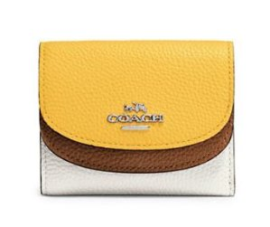 COACH Small Double Flap Leather Wallet @ Lord & Taylor