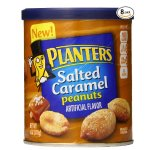Planters Dry Roasted Peanuts, Salted Caramel, 6 Ounce (Pack of 8)