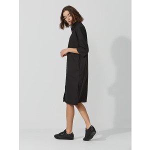 The Roslyn Oxford Shirt-Dress in True Black | Frank + Oak