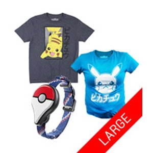Pokemon Go Plus Medium T-Shirt Bundle