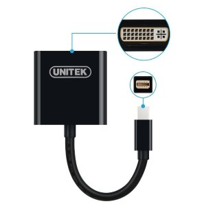 UNITEK Gold Plated Mini Display Port Full HD DVI to Mini DisplayPort Converting Adapter