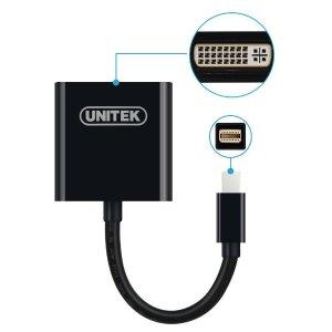 UNITEK Gold Plated Mini Display Port Full HD DVI to Mini DisplayPort Converting Adapter