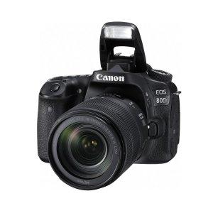 Canon EOS 80D DSLR Camera w/EF-S 18-135mm F3.5-56 IS USM Lens Black/promo Bundle