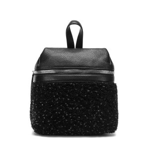 SPECKLED SHEARLING SMALL BACKPACK