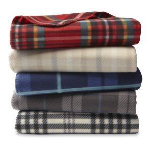 Cannon Plush Throw - Plaid