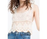 LACE CROPPED TOP - View All-TOPS-WOMAN-SALE | ZARA United States