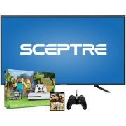 As Low As $479! Sceptre 4k HDTV (4K x 2K)+Xbox One S 500GB Bundle+ 4K Movie or Xbox One Game + Extra Controller