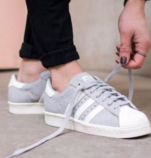 $63.00(reg.$100.00) Adidas Originals Clear Granite Superstar 80's Trainers