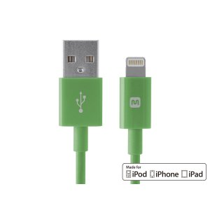 Select Series Apple® MFi Certified Lightning™ to USB Charge & Sync Cable, 10ft Green - Monoprice.com