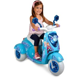 2016 Black Friday! $69 6V Spider-Man Motorcycle or Frozen Scooter