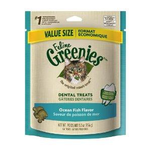 Greenies Dental Treats Ocean Fish Dry Cat Treat, 5.5 Oz | Jet.com