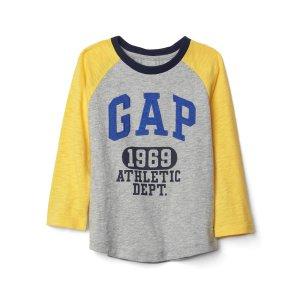 Athletic logo slub baseball tee | Gap