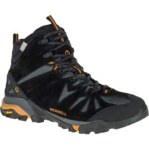 Men - Capra Mid Waterproof - Black/Orange | Merrell