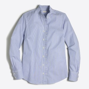 Striped ruffle shirt : button-ups | J.Crew Factory