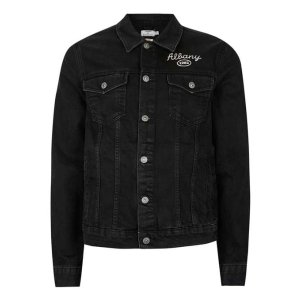 Black Chain Stitch Denim Jacket - Men's Coats & Jackets - Clothing - TOPMAN USA