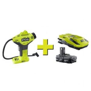 $64.97Ryobi 18伏 ONE+ 手持无线电动充气泵+电池升级套装