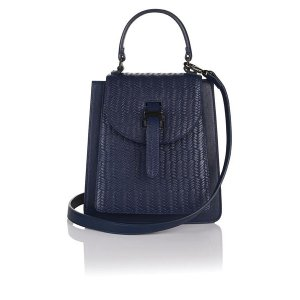 Floriana mini cross body body midnight blue woven Double 12 sale