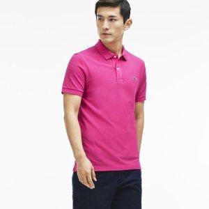 Men's Slim Fit Petit Piqué Polo Shirt | LACOSTE