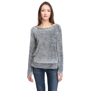 Hom Venice Velour Washed Sweatshirt   South Moon Under