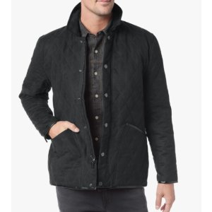 QUILTED BARN JACKET IN BLK