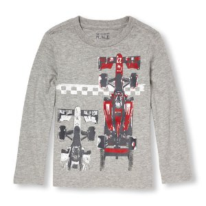 Toddler Boys Long Sleeve Racecar Graphic Tee | The Children's Place