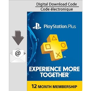 CAD 49.99/$38.26 PlayStation Plus - 12 Month Membership - Electronic Code