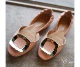 Roger Vivier Ballerine Chips Patent Leather D'Orsay Flats