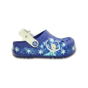 Frozen Cerulean Blue & Oyster CrocsLights Clog | zulily