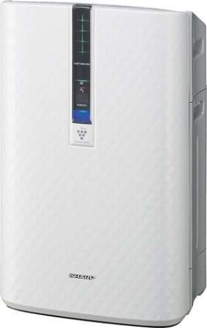 Sharp - Plasmacluster Ion Air Purifier with Humidifier - White