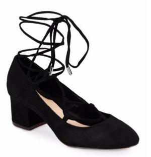 Saks Fifth Avenue Lace-Up Block-Heel Pumps @ Saks Off 5th