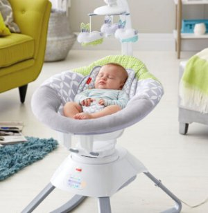 Fisher-Price 4 Motion Cradle 'n Swing with Smart Connect