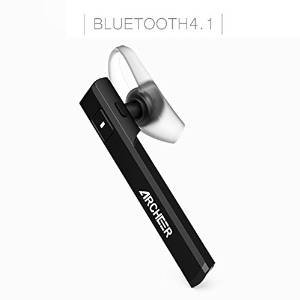 Archeer Wireless Headphone Ultra Light Hands-Free Earpiece AH05 with USB Charging Dock