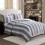Fur Reversible Full/Queen Comforter Set, FULL/QUEEN